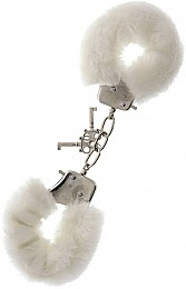 Наручники Dream Toys Metal Handcuff with Plush, белые