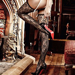 Чулки BACI Lace Stockings With Ornamental Pattern