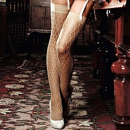 Чулки BACI Champagne Filigree Net Stockings